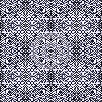 Batik Tribal Tile Pattern Stock Illustration - Image: 39822044