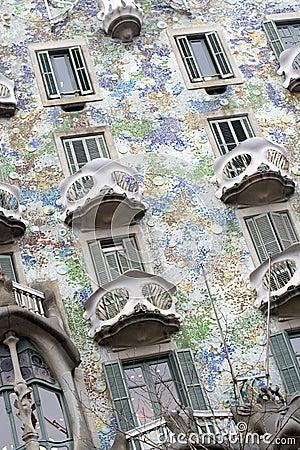 Batllo House by Gaudi, Barcelona