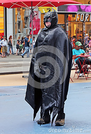 Batman in NY. Editorial Photography
