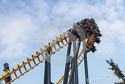 Batman Roller Coaster Ride Six Flags Maryland Editorial Image