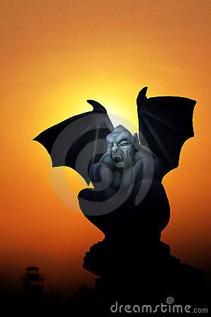 Batman in silhouette