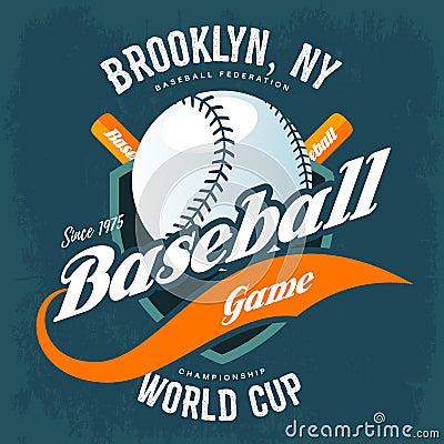 Free Bats Behind Baseball Ball On Shield T-shirt Logo Royalty Free Stock Photo - 84410045