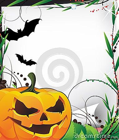 Bats and evil Jack O Lantern