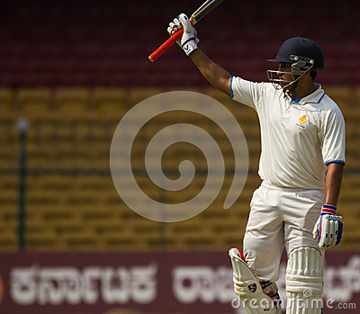 Batsman celebration Editorial Photography