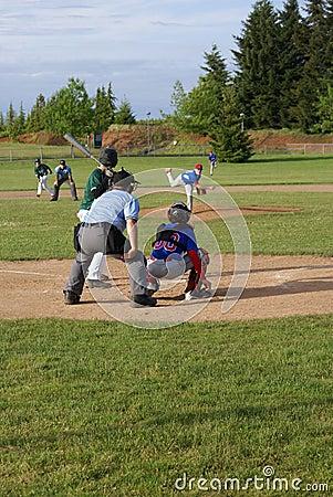 Batter Ready to Swing at Baseball Editorial Photography