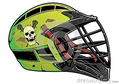 Battered Lacrosse Helmet EPS