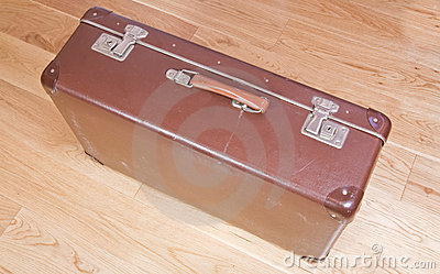Battered old suitcase