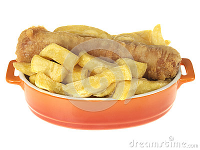 Battered Sausage and Chips