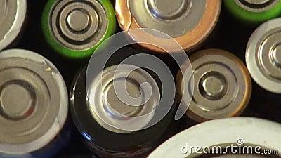 Batteri batterier, elektricitet, energi stock video