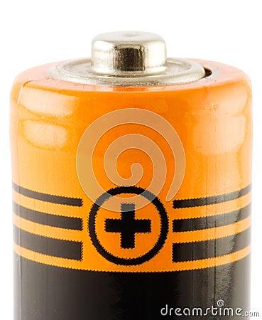 Batterie AA. Positive