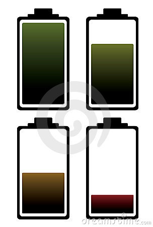 Battery charge color icon