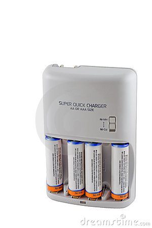 Free Battery Charger With Batteries Royalty Free Stock Photo - 7838415