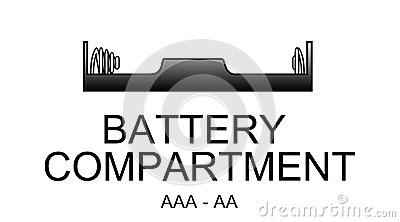 Battery compartment icon