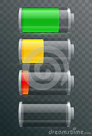 Battery electricity charge technology and alkaline battery Vector Illustration