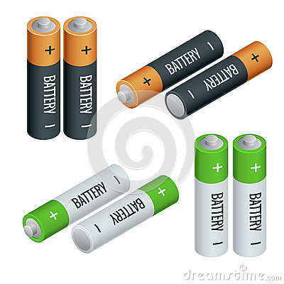 Battery electricity charge technology and alkaline . Vector Illustration