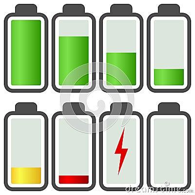 Battery Energy Indicator Icons