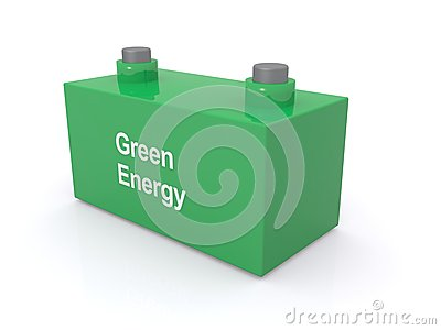 Battery with green energy