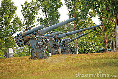 Battery guns on Corregidor Island