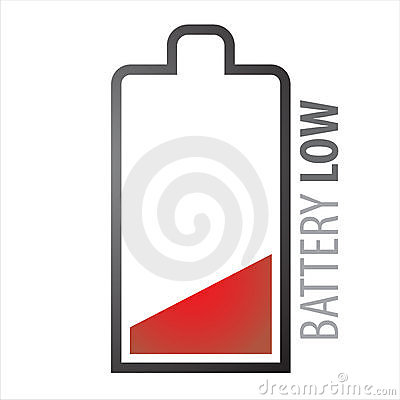 Free Battery Low Royalty Free Stock Photography - 9641697