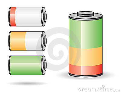 Battery Set I Royalty Free Stock Photos - Image: 6509918