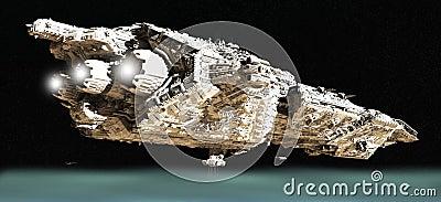 Battle Cruiser in Low Orbit - 2