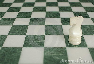 Battle is ended - chess horse alone