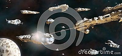 Battle Fleet in Action