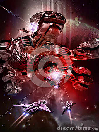 Free Battle In Space Royalty Free Stock Photos - 60022808