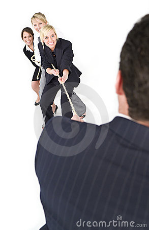 Free Battle Of The Sexes Stock Photography - 7030622