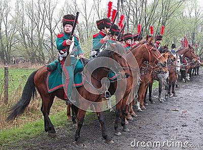 Battle of Raszyn 1809 Editorial Photo