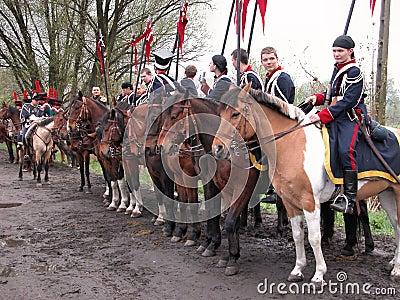 Battle of Raszyn 1809 Editorial Stock Image