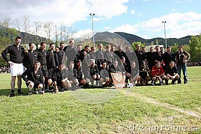 The battle RBFC / Cantona v Lievremont Editorial Image
