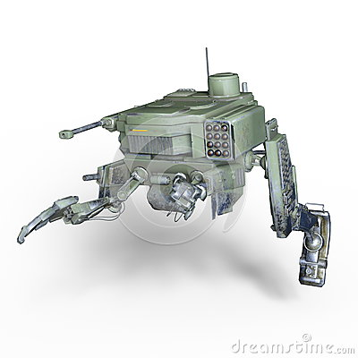 Battle robot Stock Photo