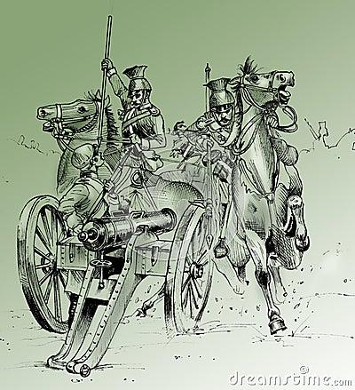 Battle scene from Crimea War