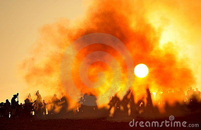 The battle with sun Editorial Stock Image