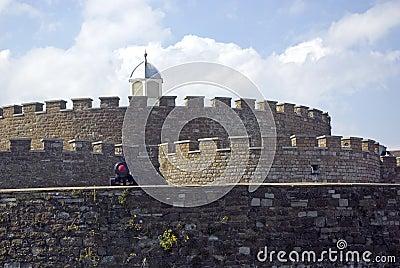 Battlements do castelo do negócio