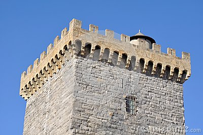 Battlements of a square tower