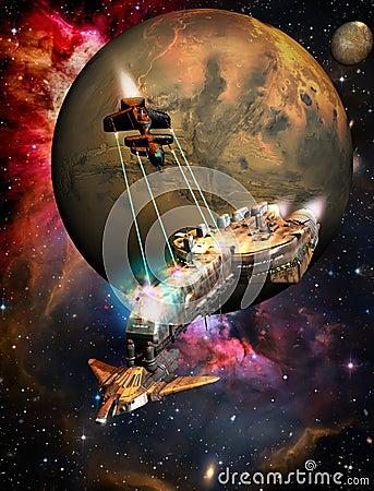 Battleship in space