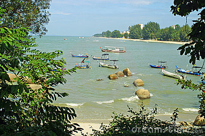 Batu Ferringhi Beach in Penang, Malaysia