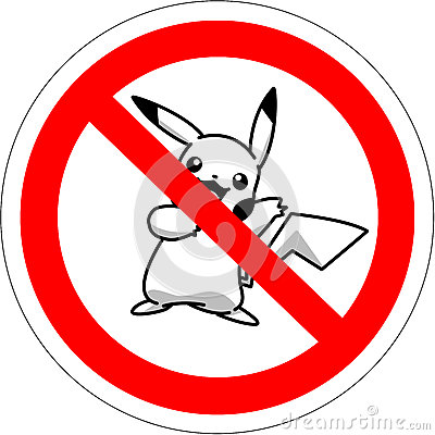 Free BATUMI, GEORGIA - JULY 14TH, 2016 Prohibitory Sign For The Players In Augmented Reality Game Pokemon Stock Photography - 74326742
