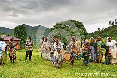 Batwa pigmy in Uganda Editorial Image