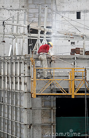 Bauarbeiterschweißen