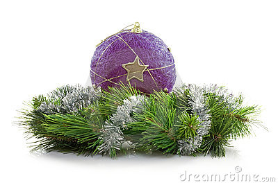 Bauble and artificial wreath