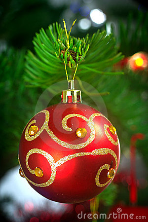 Bauble na árvore de Natal