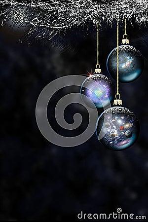 космос рождества baubles