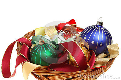 Baubles in a basket