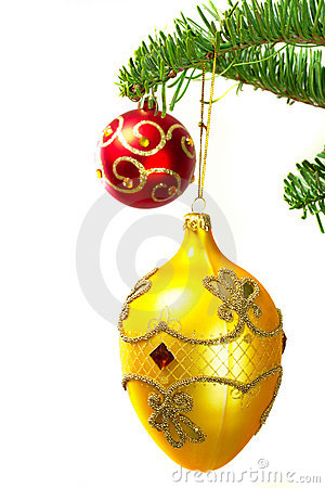 Baubles on the Christmas tree