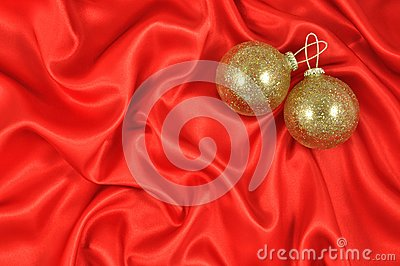 Baubles on Crimson Satin