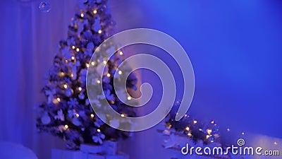 Baubles de árbol de Año Nuevo de Navidad metrajes