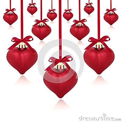 Baubles serca czerwień